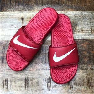 Men's Nike red slides 8 sandals flip flop